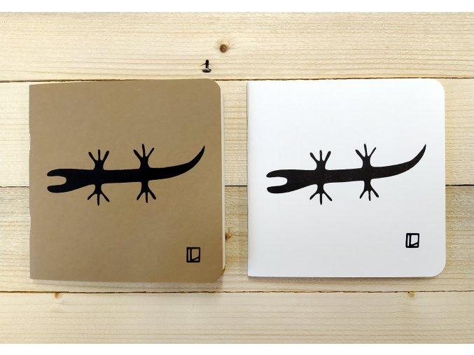 Sešit 14,5x14,5 cm - Lhotský ART - ještěrka