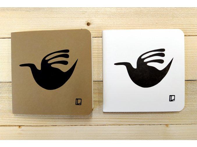 Sešit 14,5x14,5 cm - Lhotský ART - kachna