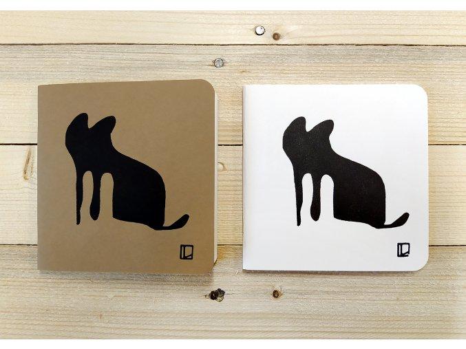 Sešit 14,5x14,5 cm - Lhotský ART - kočka
