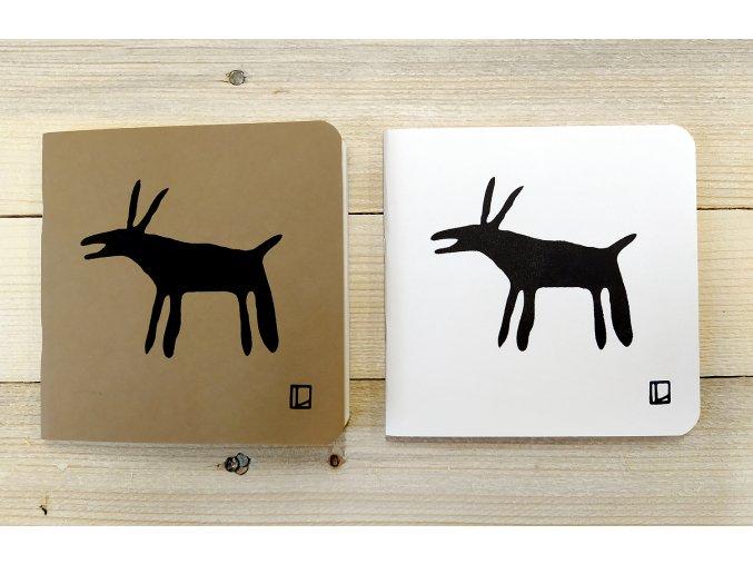 Sešit 14,5x14,5 cm - Lhotský ART - koza