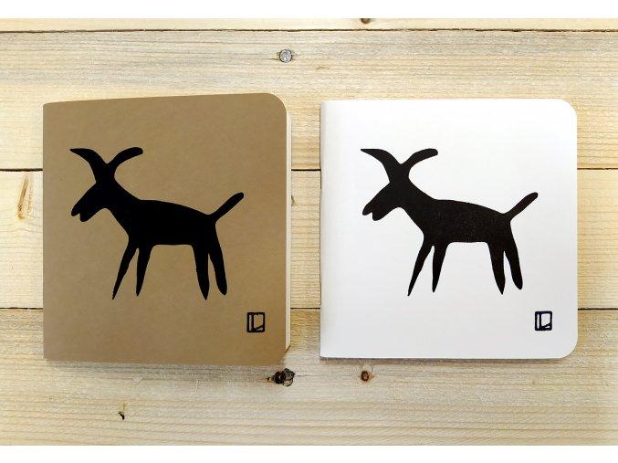 Sešit 14,5x14,5 cm - Lhotský ART - koza II.