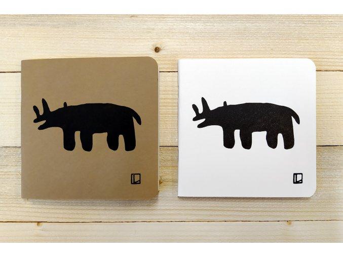 Sešit 14,5x14,5 cm - Lhotský ART - nosorožec