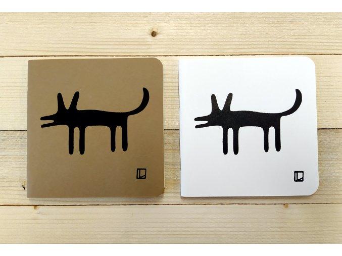 Sešit 14,5x14,5 cm - Lhotský ART - pes