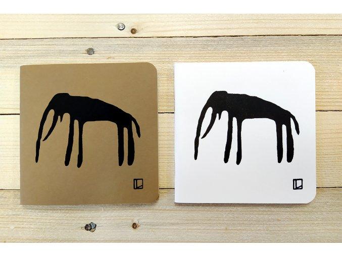 Sešit 14,5x14,5 cm - Lhotský ART - slon