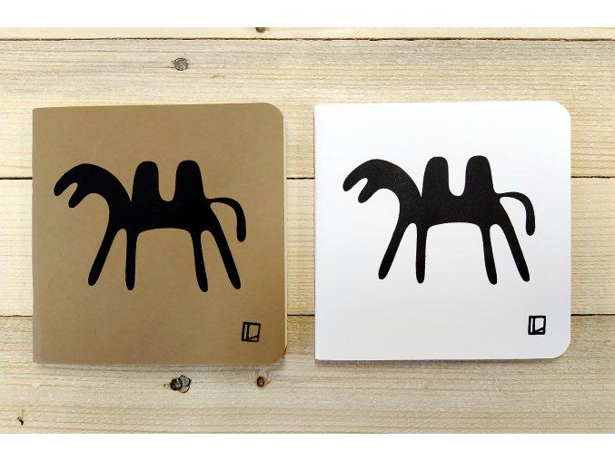 Sešit 14,5x14,5 cm - Lhotský ART - velbloud