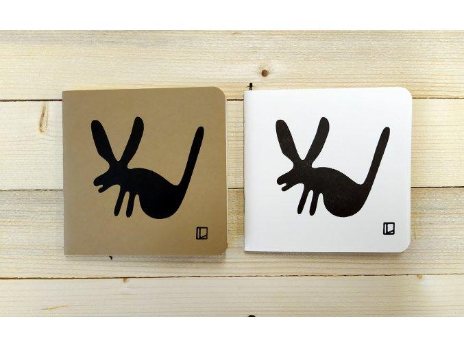 Sešit 14,5x14,5 cm - Lhotský ART - zajíc