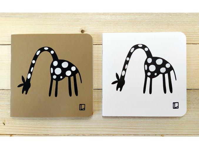 Sešit 14,5x14,5 cm - Lhotský ART - žirafa