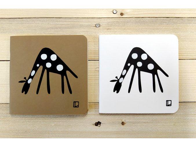 Sešit 14,5x14,5 cm - Lhotský ART - žirafa II.