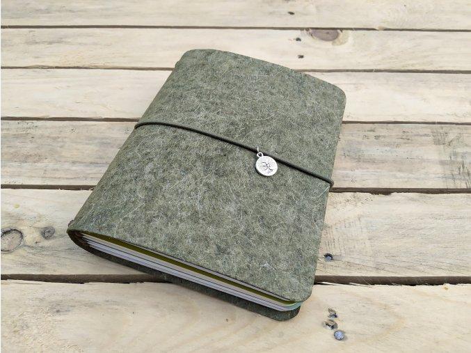 Kreativní diář Malai, desky barva zelená