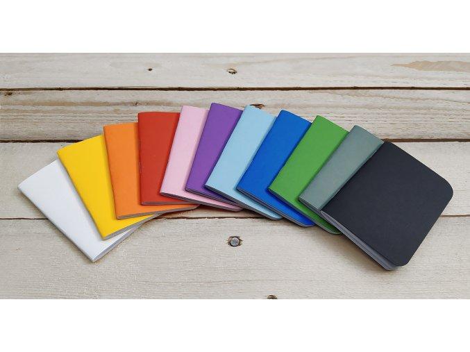 Sešitek MiMi, 7 x 10 cm, různá barevná provedení