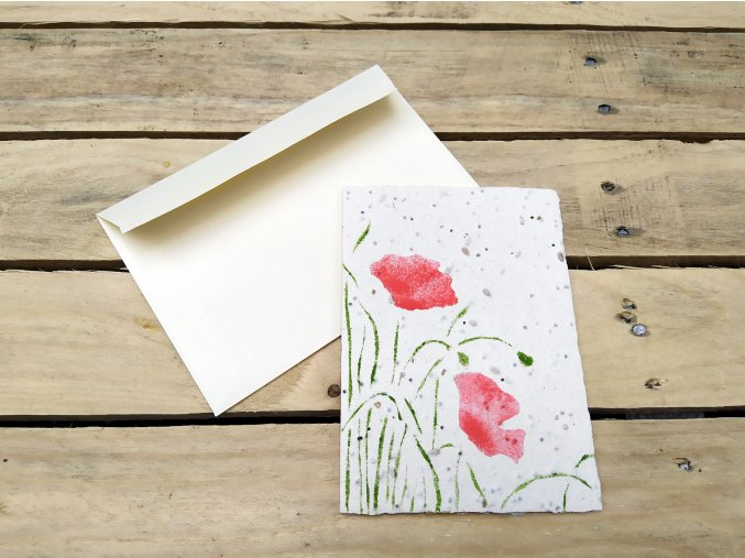 Rostoucí přání - semínka máku, s obálkou