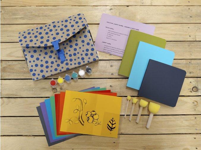 Kreativní sada kufřík modrý
