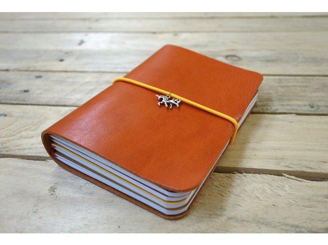 Kožený kreativní deník A6