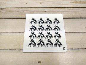 Sešit 20x20 cm - Lhotský ART - sloní rodinka