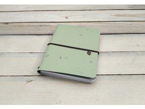 Kreativní deník ruční papír, vzor kiwi