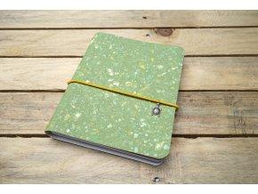 Kreativní deník ruční papír, barevný vzor zelená
