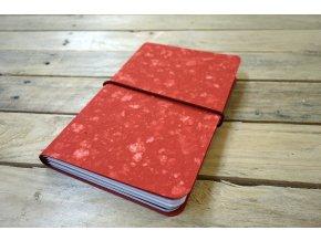 Kreativní deník ruční papír, barevný vzor červená