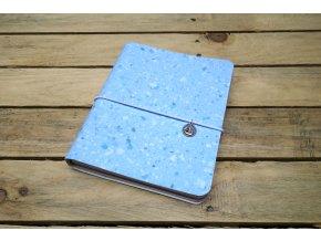 Kreativní deník ruční papír, barevný vzor obláčková