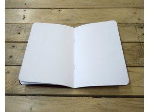 Náhradní sešit čist bílý pro deník z ručního papíru