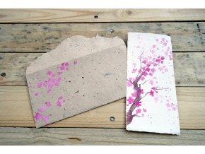 Přání moruše a bavlny, motiv sakura, větší