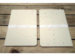 Desky sešitu se semínky