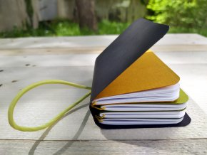 """""""MIMI"""" kreativní deník, 4 sešitky, Antalis černé desky"""