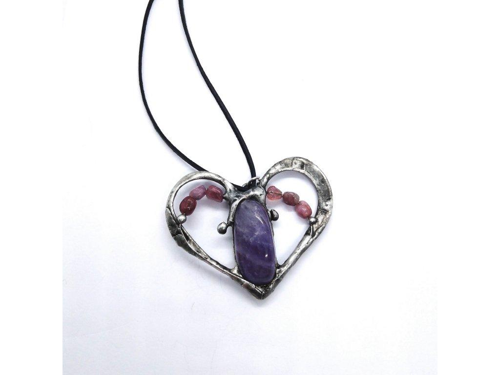 Ametyst a turmalíny - srdce