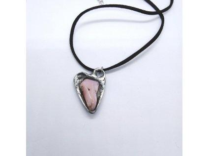 Růžový opál - srdíčko