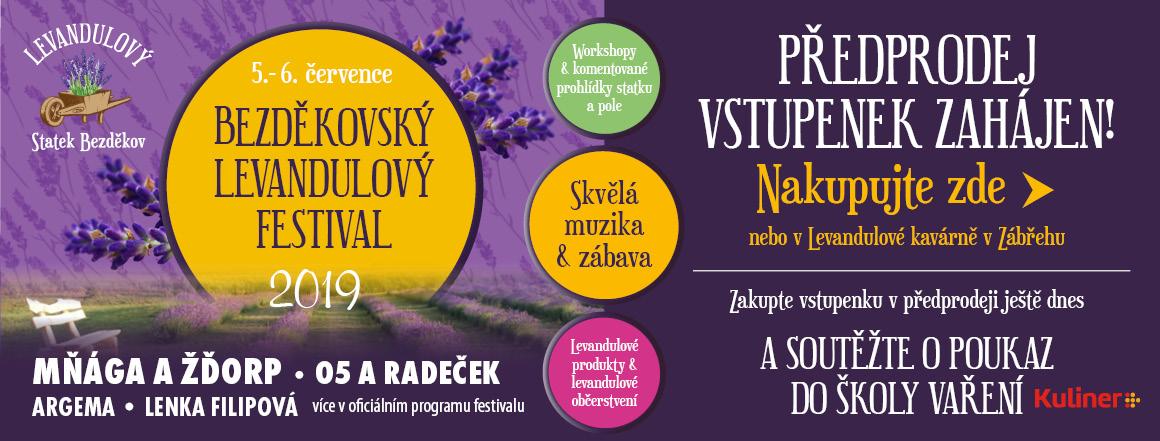Předprodej vstupenek Bezděkovský levandulový festival 2019