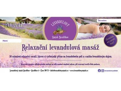 poukaz levandulova masaz 300