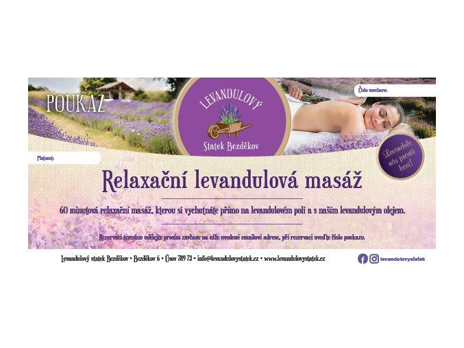 poukaz levandulova masaz 600