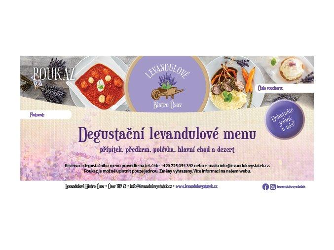 Levandulové degustační menu