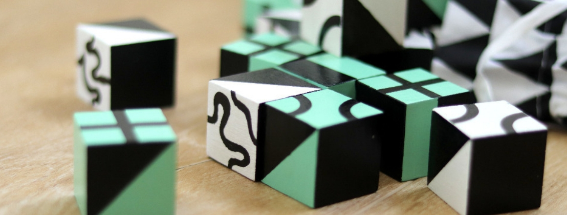 Cubeek černobílý a černozelený
