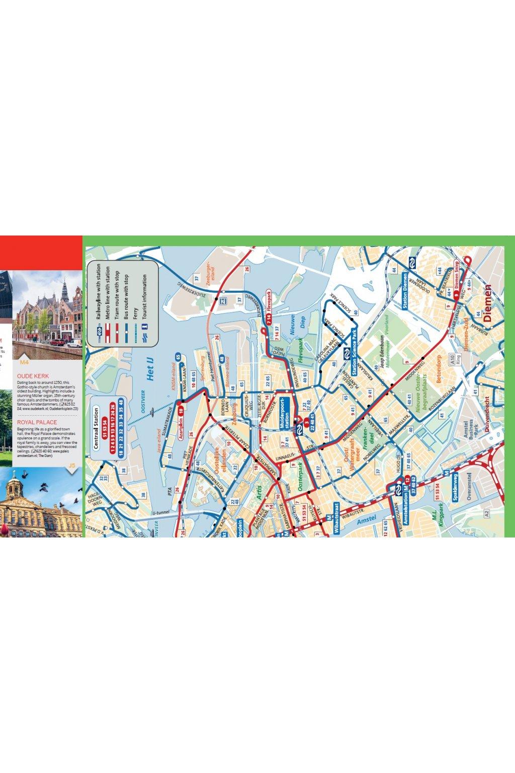 Amsterdam City Map Lonely Planet esk republika