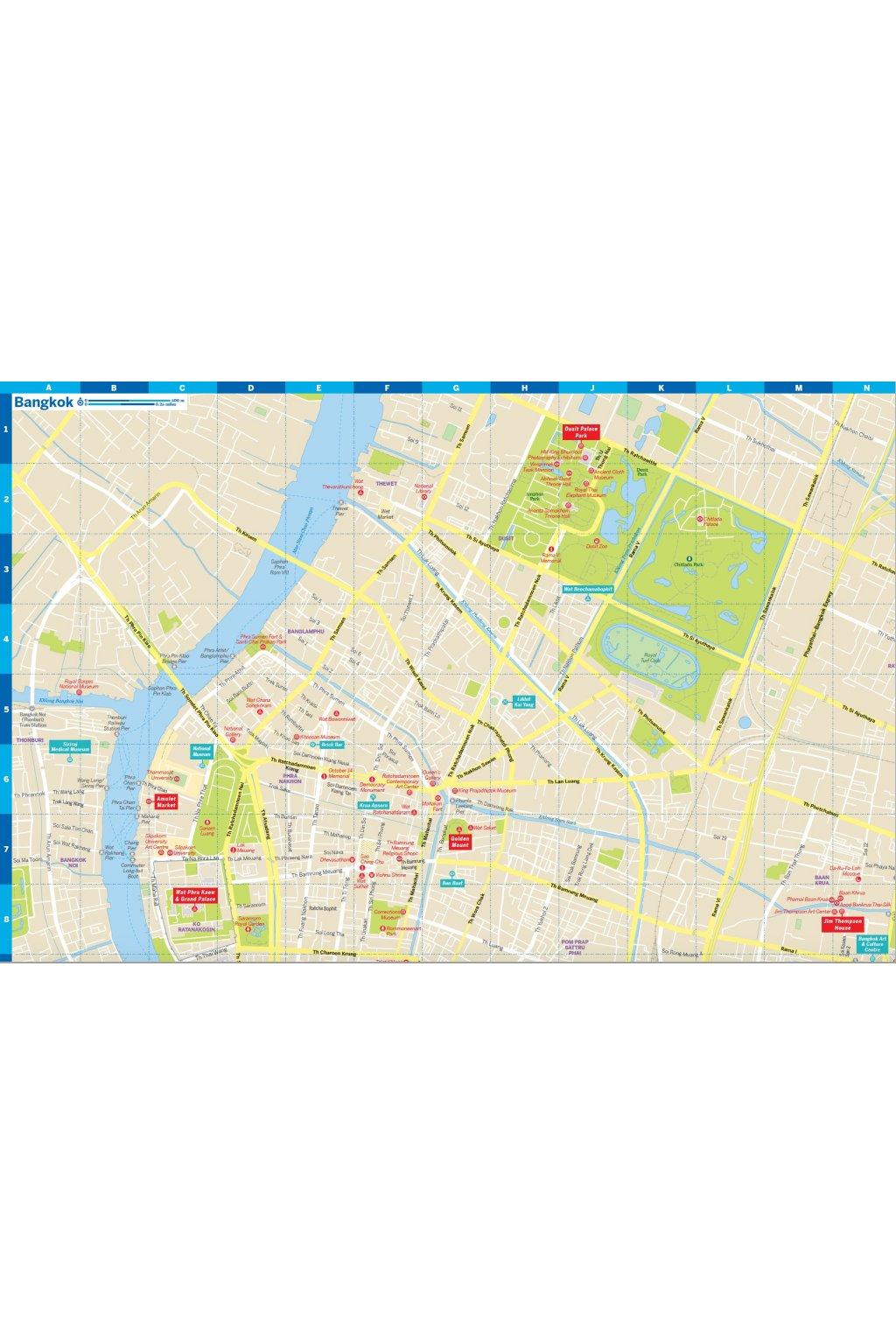 Bangkok City Map - Lonely Planet Česká republika