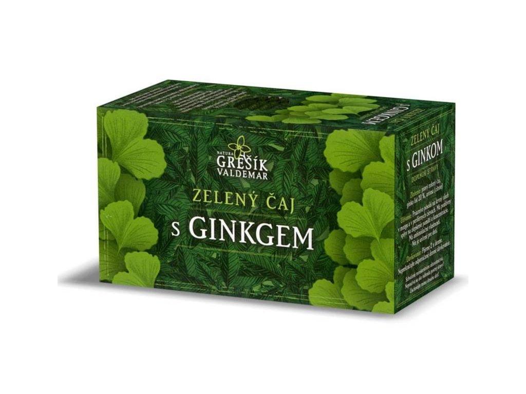 Zelený čaj s ginkgo biloba 70g