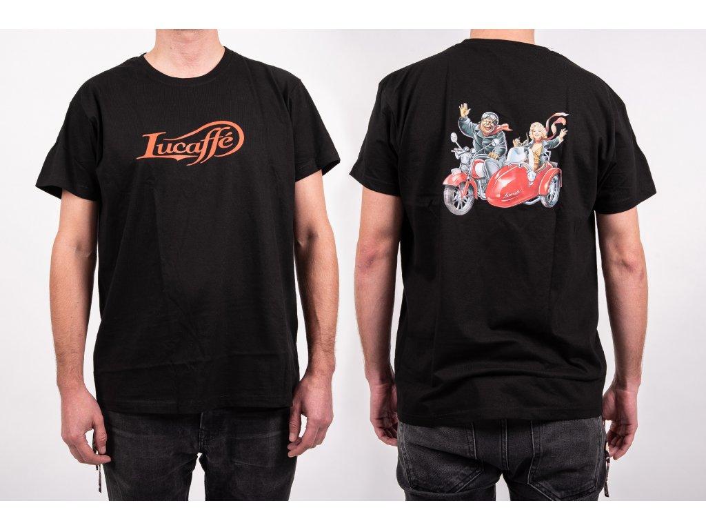 Lucaffé tričko čierne