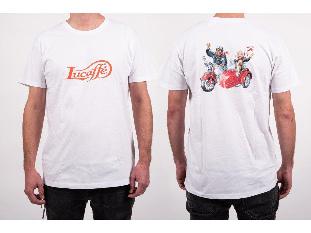 Lucaffé tričko biele