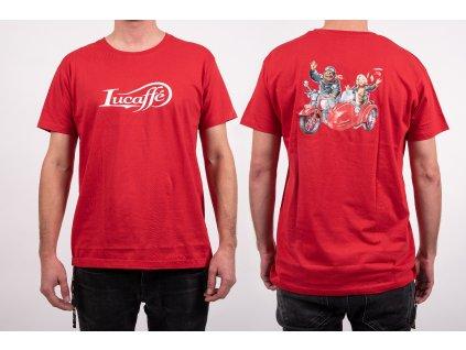 Lucaffé tričko červené