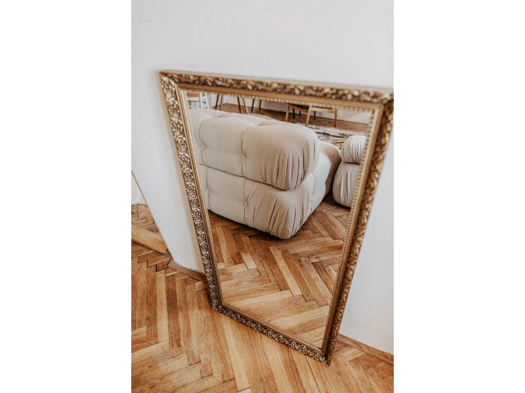 zrcadlo zlatý rám výška 108cm, šířka 58cm
