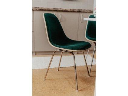 2ks zelené židle výška 79cm, šířka 46cm, hloubka 40cm