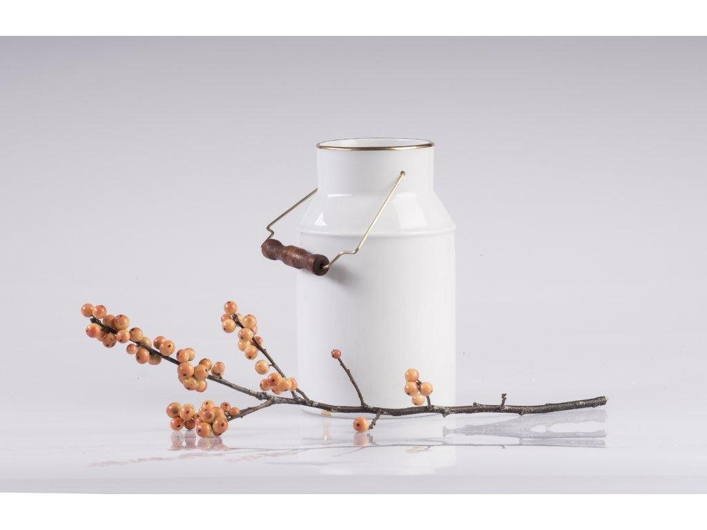 bandaska - váza na květiny, retro váza, designová váza, bílá váza, dekorativní váza
