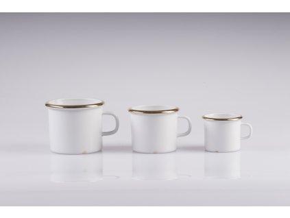 porcelánový plecháček - GOLDEN AGES  luxusní porcelánový hrnek