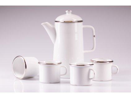 originální konvice, retro konvice, retro konev, konvice na čaj, bílá porcelánová konvice, porcelánová konvice na čaj, porcelánová konev, designová konev na čaj, konvice na čaj, konvice, konev,designová konev, konev na čaj, porcelánová konvice, čajová konvice, porcelán, český porcelán, luckavo, Lucie Tomis, retro nádobí, plecháček, smaltovaný design, platinová konvice
