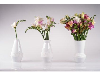 Viktorie, porcelánová váza, váza, vázička,krajka, Luckavo, Lucie Tomis