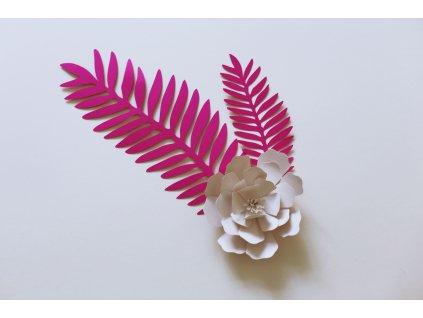papírová květina malá 8 cm