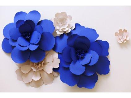 papírová květina velká 30 cm