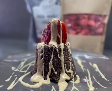 Makovo-jahodový mugcake
