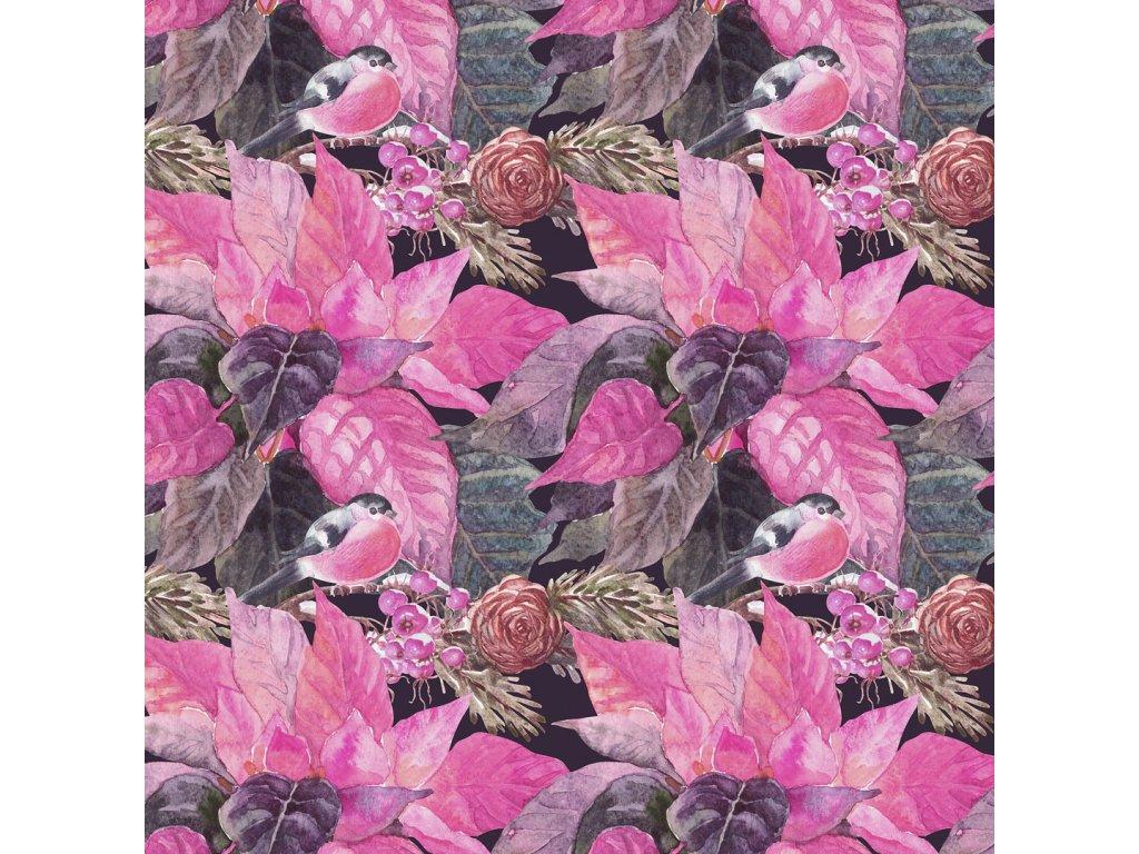 Y123 ptáček s květy