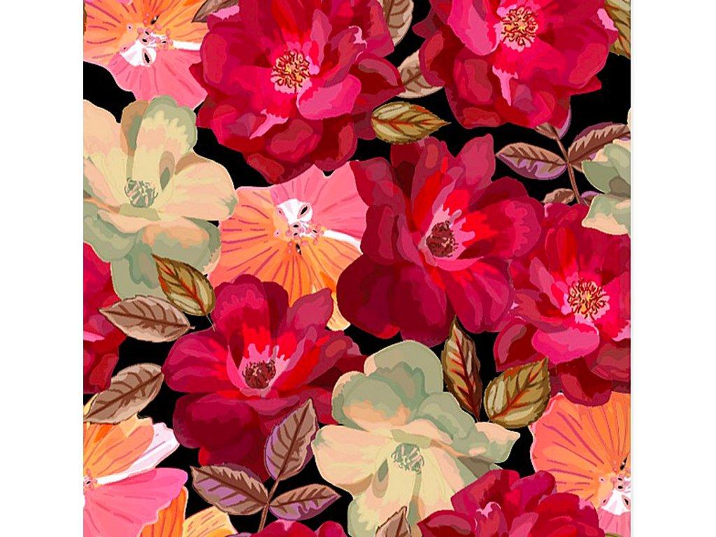 Y126 červené růže s jinými květy